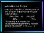 harlem hospital studies