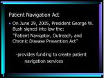 patient navigation act