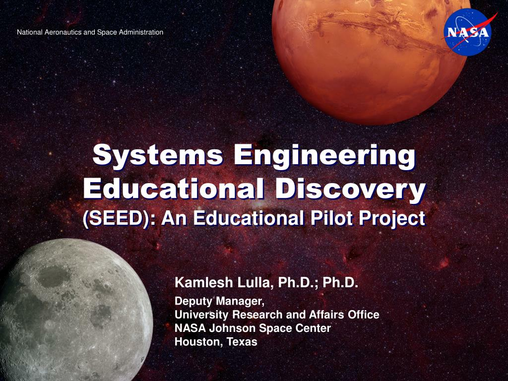 systems engineering educational discovery seed an educational pilot project l.