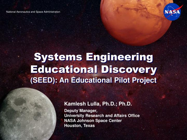 systems engineering educational discovery seed an educational pilot project n.