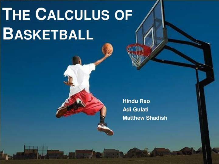 the calculus of basketball n.