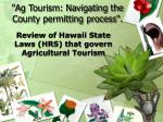 ag tourism navigating the county permitting process