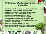ordinances shall include but not be limited to
