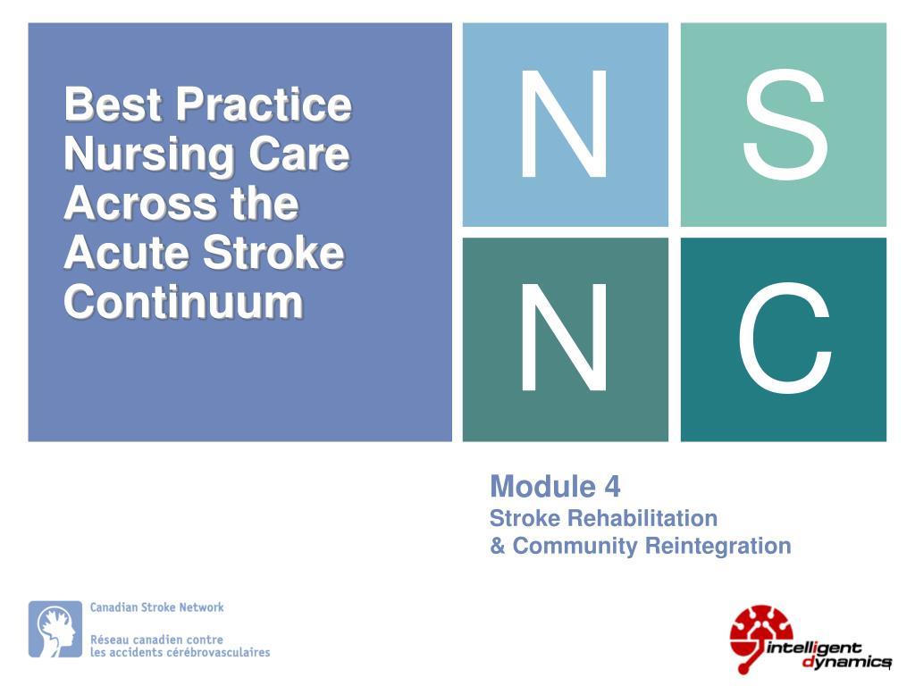 module 4 stroke rehabilitation community reintegration l.