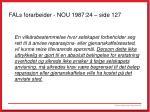 fals forarbeider nou 1987 24 side 127