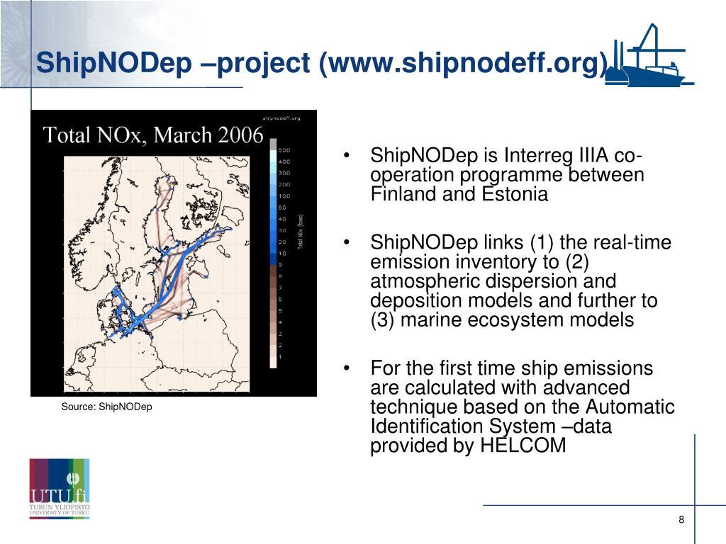 ShipNODep –project (www.shipnodeff.org)