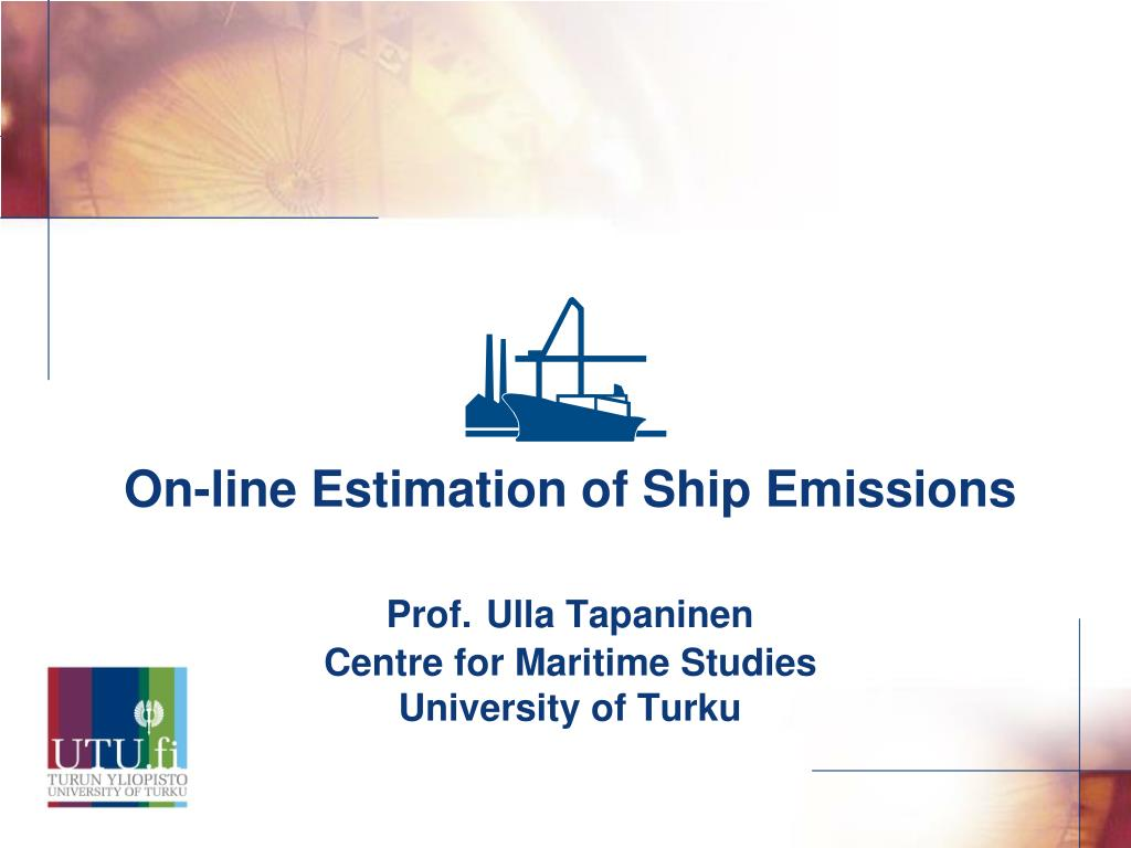 On-line Estimation of Ship Emissions