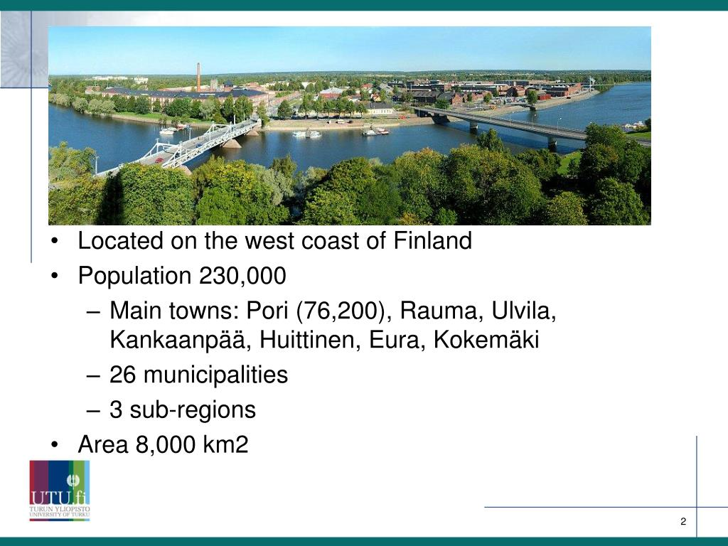 Located on the west coast of Finland