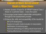 causes of haze assessment goals objectives