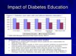 impact of diabetes education
