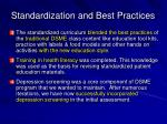 standardization and best practices