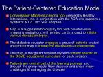 the patient centered education model