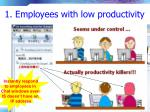 1 employees with low productivity15
