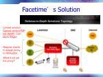 facetime s solution