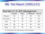 nbl test report 2005 2 2377