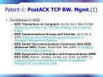 patent 1 postack tcp bw mgmt 1