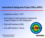 international safeguards project office ispo