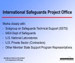 international safeguards project office