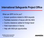 international safeguards project office19