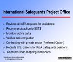 international safeguards project office9