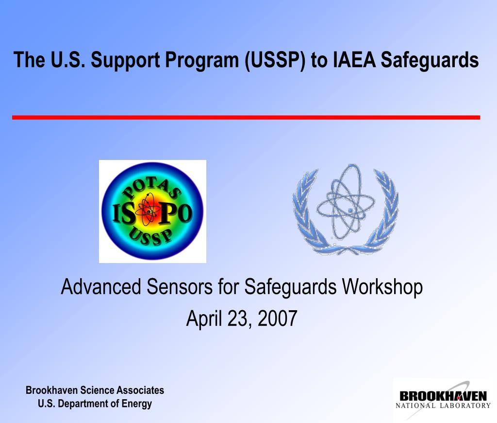 the u s support program ussp to iaea safeguards l.