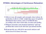 rtdda advantages of continuous relaxation