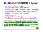 the ncar atec rtfdda system