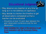 educational judgment