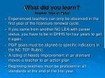 what did you learn answer true or false