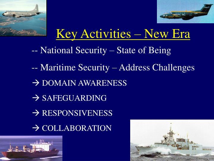 Key activities new era