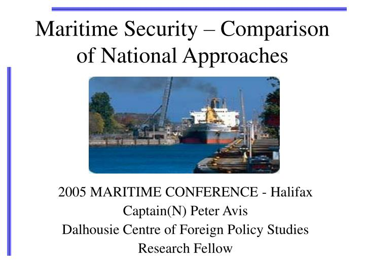 Maritime security comparison of national approaches