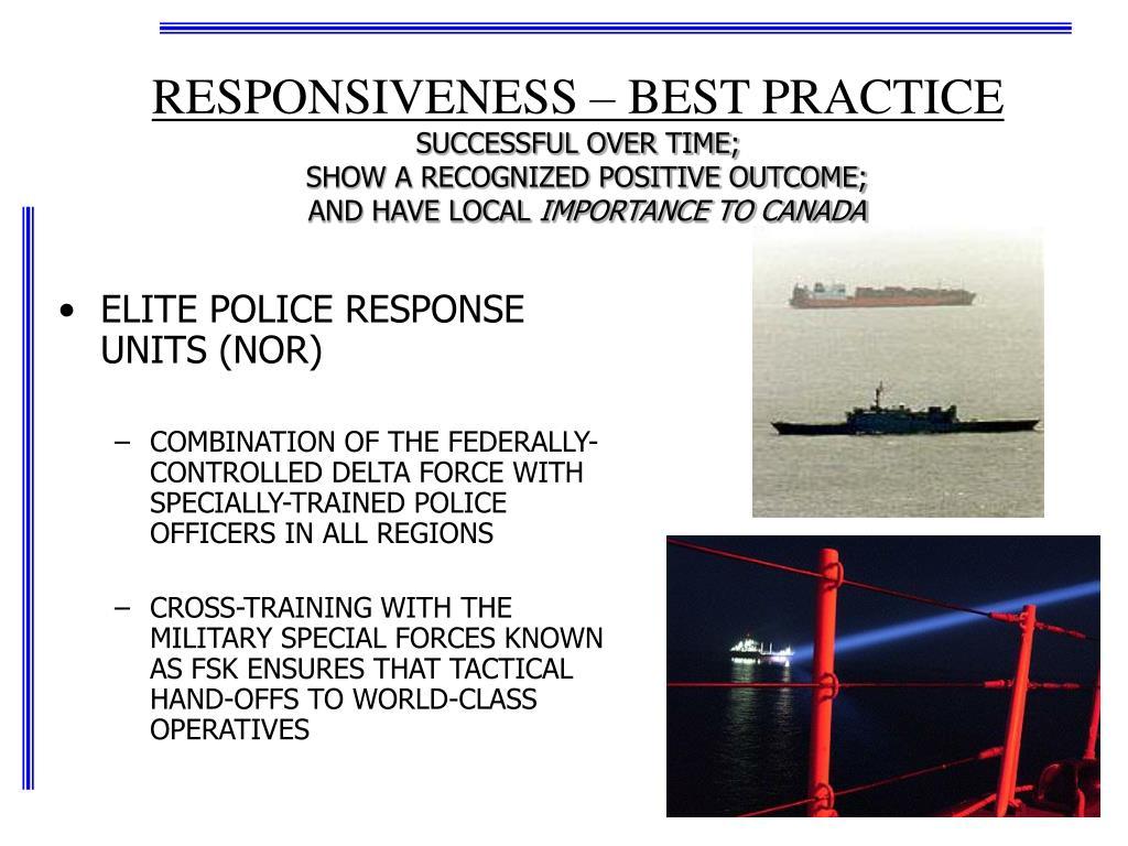 RESPONSIVENESS – BEST PRACTICE