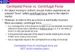 centripetal force vs centrifugal force