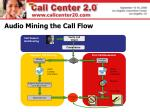 audio mining the call flow
