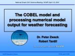 the cobel model and processing numerical model output for weather forecasting