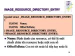 image resource directory entry