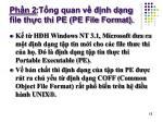 ph n 2 t ng quan v nh d ng file th c thi pe pe file format
