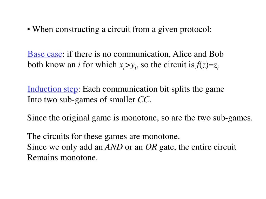 When constructing a circuit from a given protocol: