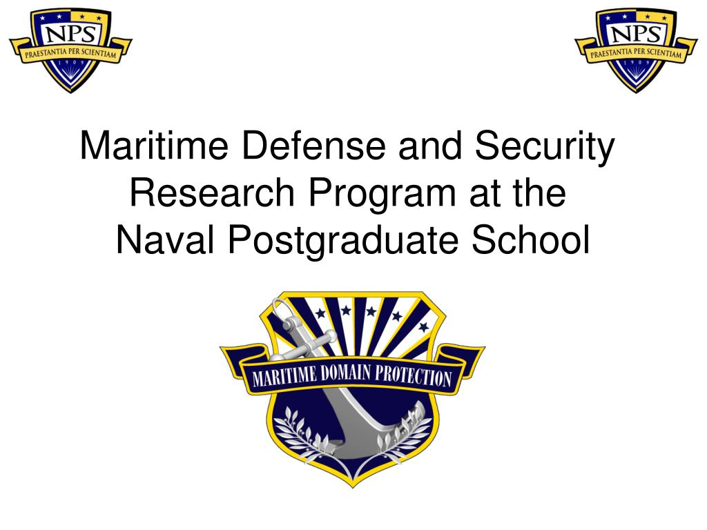 maritime defense and security research program at the naval postgraduate school l.