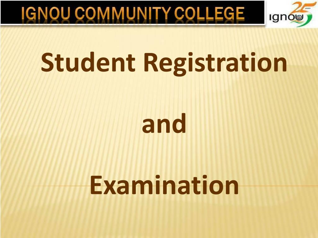 student registration and examination l.