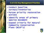 5 of 6 cc key management priorities