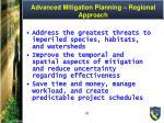 advanced mitigation planning regional approach