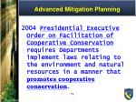 advanced mitigation planning