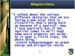 mitigation ratios