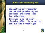 nccp best streamlining tool