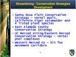 streamlining conservation strategies development