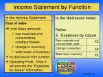income statement by function2