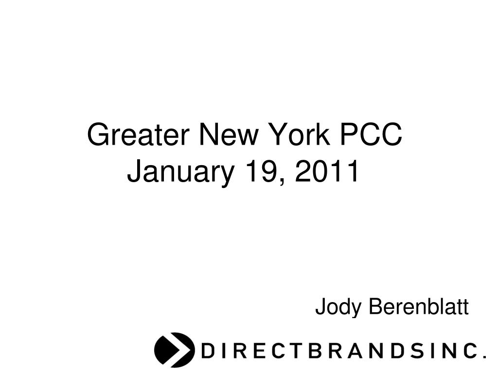 greater new york pcc january 19 2011 l.