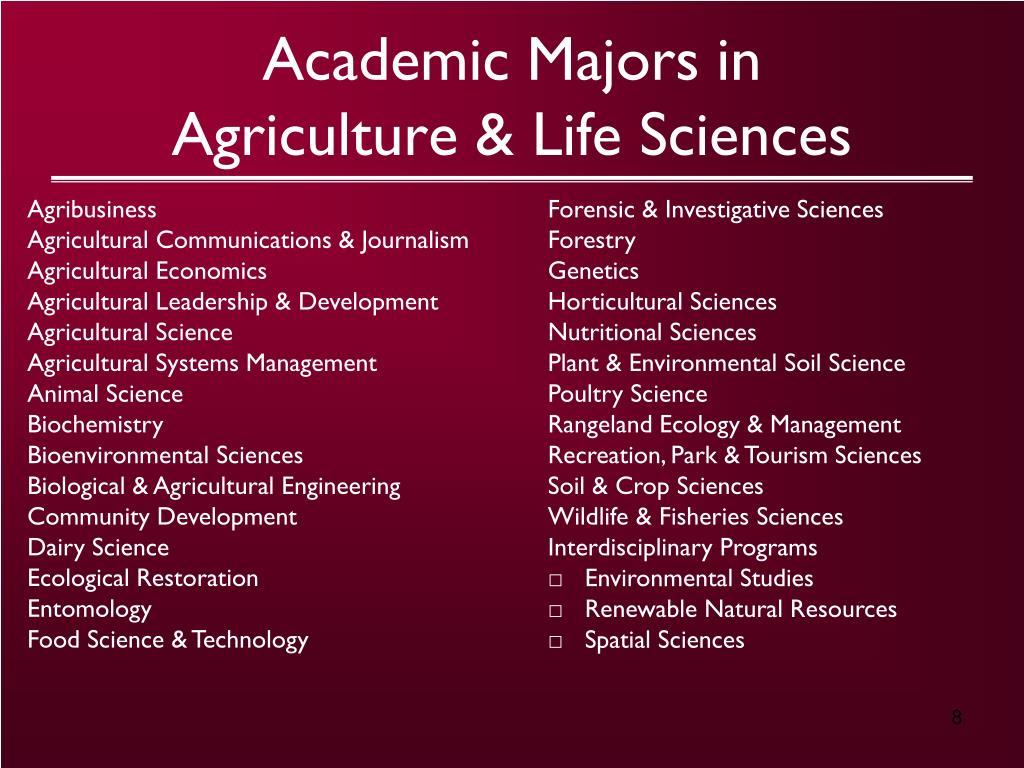 Academic Majors in