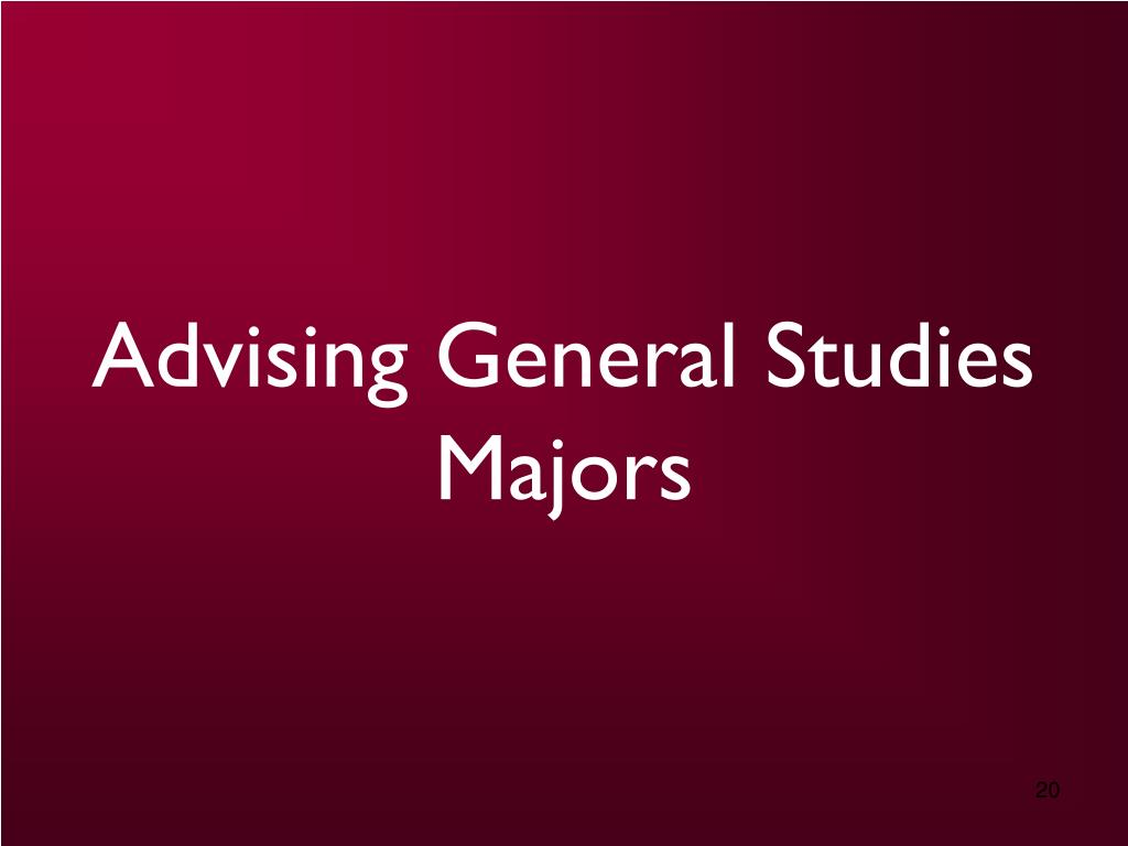 Advising General Studies Majors